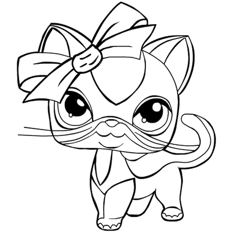 Coloriage Pet Shop En Ligne Gratuit À Imprimer concernant Dessin De Petshop
