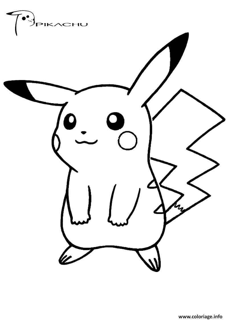 Coloriage Pikachu 289 Dessin destiné Dessin De Pikachu Facile
