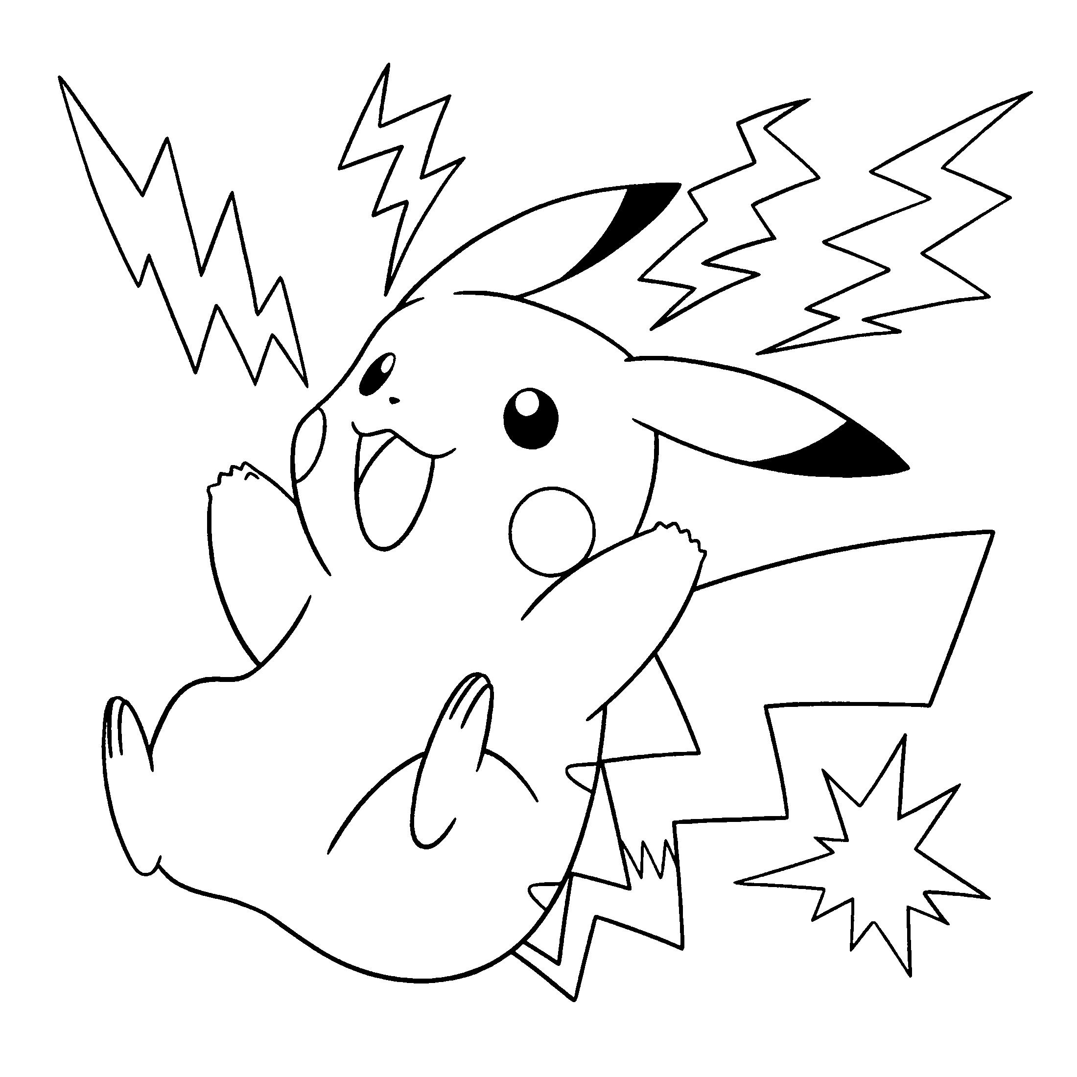 Coloriage Pikachu Gratuit À Imprimer pour Dessin De Pikachu Facile