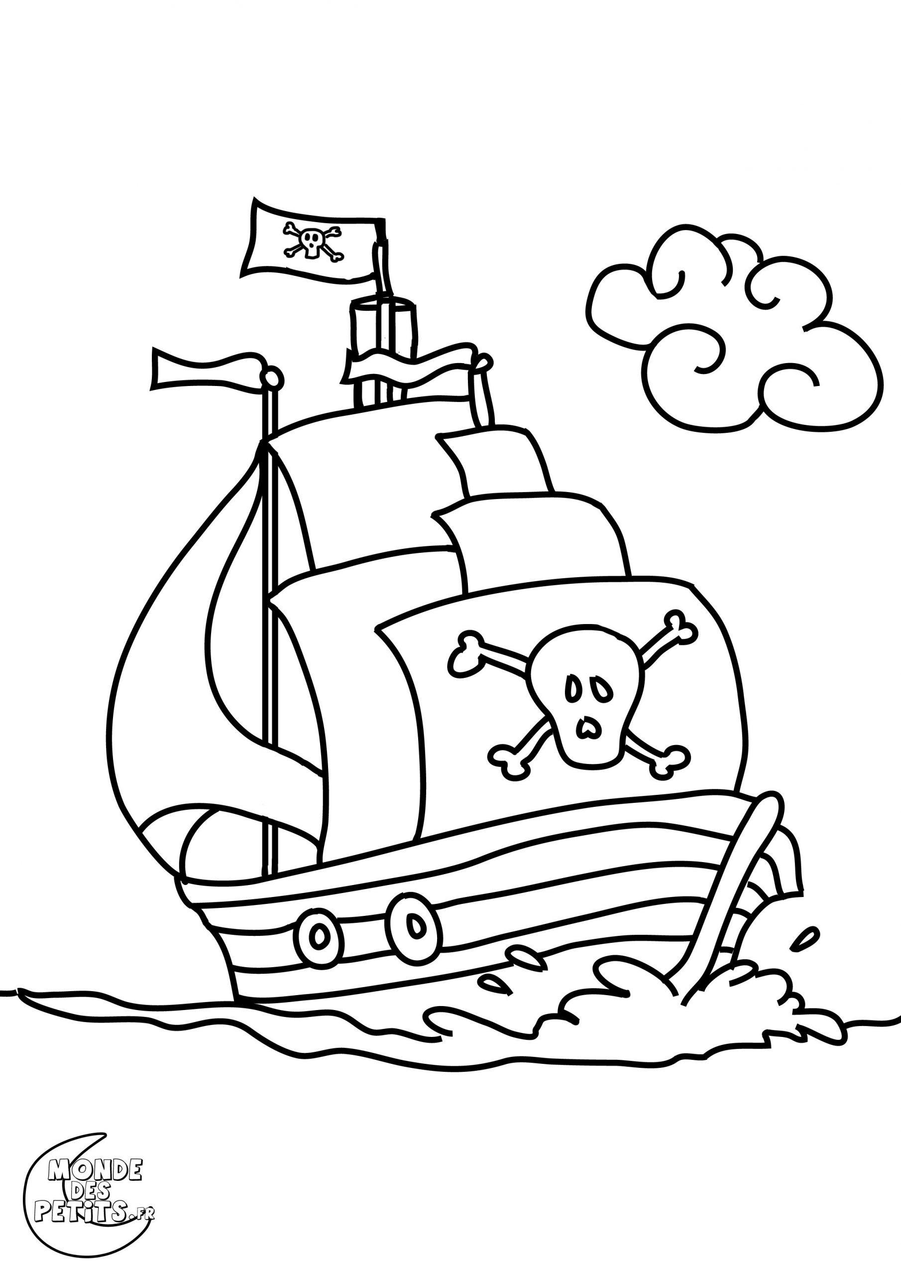 Coloriage Pirate À Colorier - Dessin À Imprimer | Coloriage destiné Dessin A Imprimer De Pirate