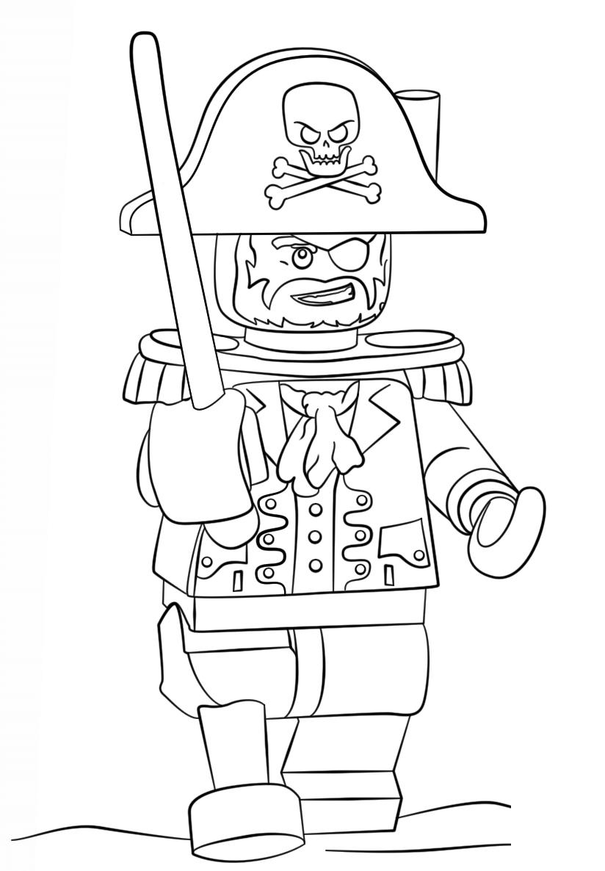 Coloriage Pirate Lego Dessin Gratuit À Imprimer pour Dessin A Imprimer De Pirate