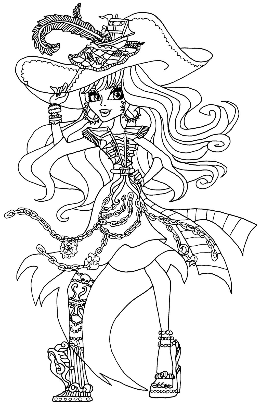 Coloriage Pirate Monster High À Imprimer tout Image Monster High A Imprimer