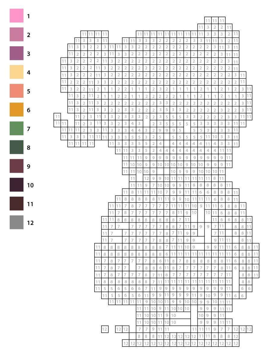 Coloriage Pixel Art Mystère À Numéros Pour Imprimer | Pixel concernant Pixel A Colorier
