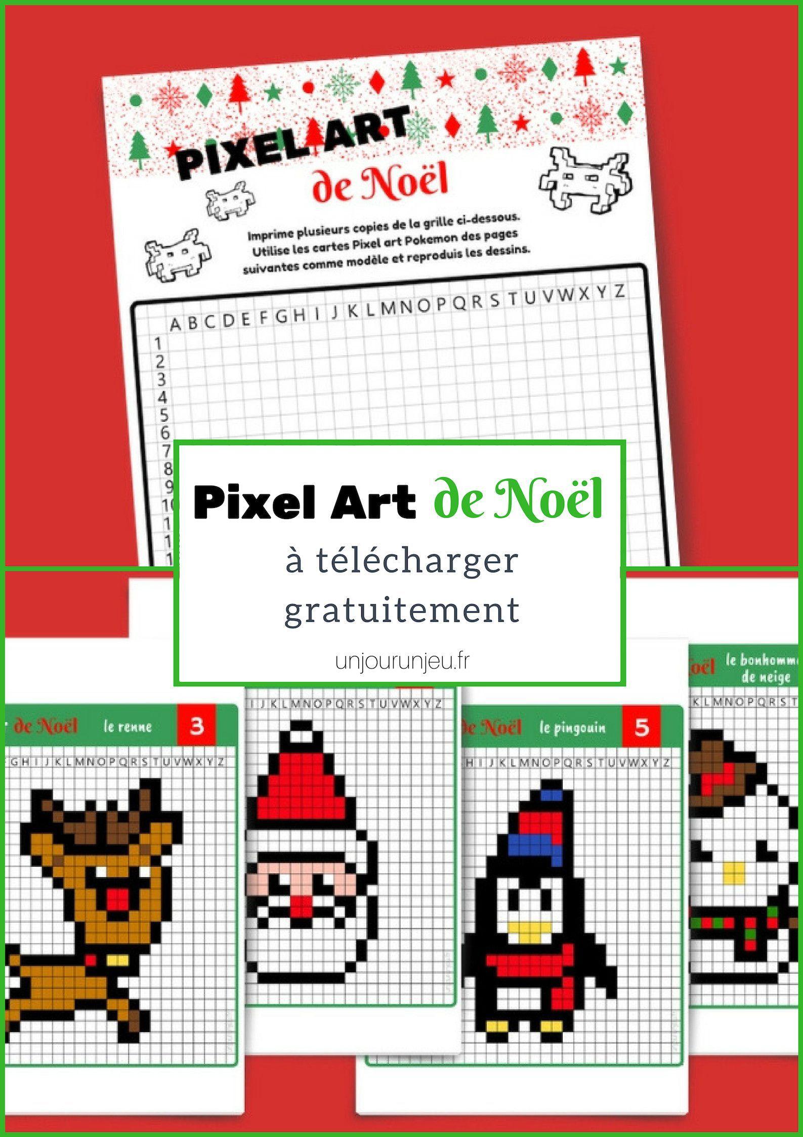 Coloriage Pixel Artwork A Imprimer Coloriage Pixel Artwork A tout Pixel Art Pere Noel