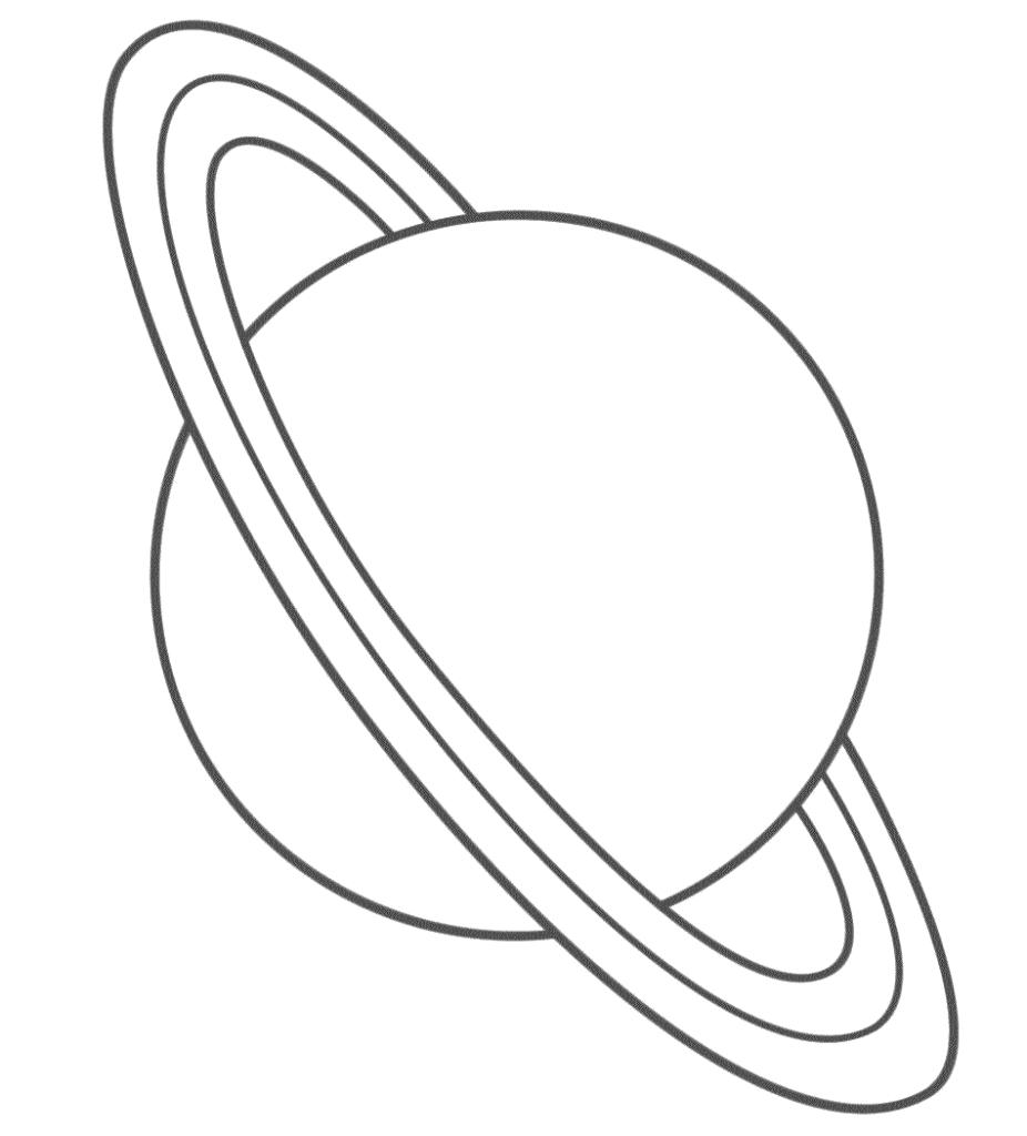 Coloriage Planete Saturne À Imprimer Sur Coloriages dedans Saturne Dessin