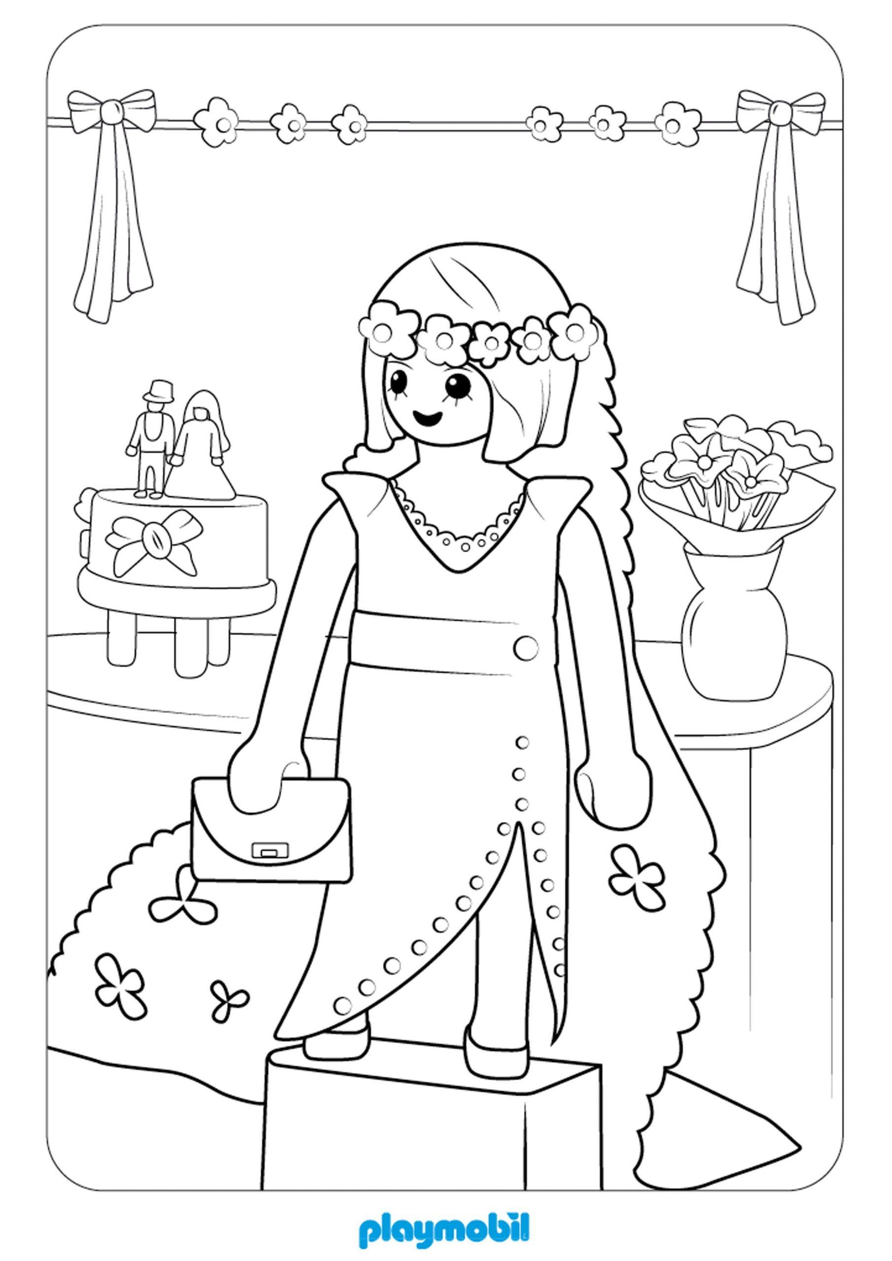 Coloriage Playmobil À Colorier - Dessin À Imprimer à Coloriage A4 Imprimer Gratuit