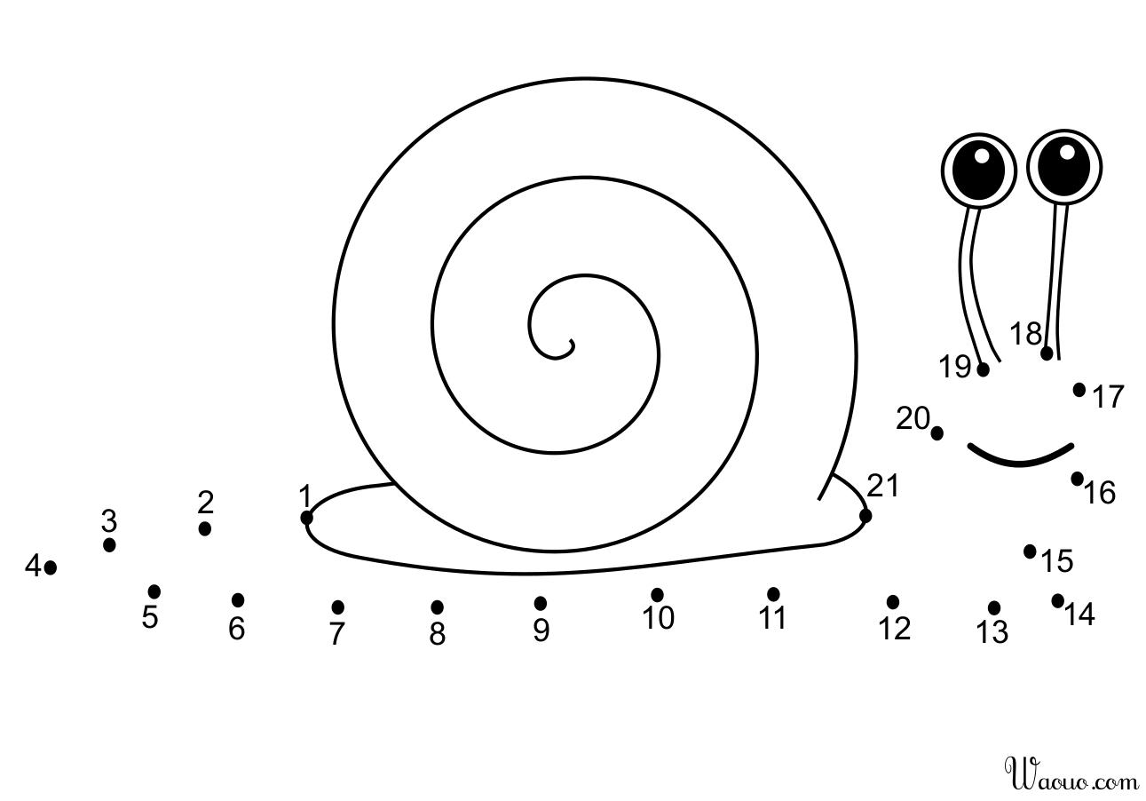 Coloriage Point À Relier Escargot À Imprimer Et Colorier encequiconcerne Jeux Gratuit Escargot