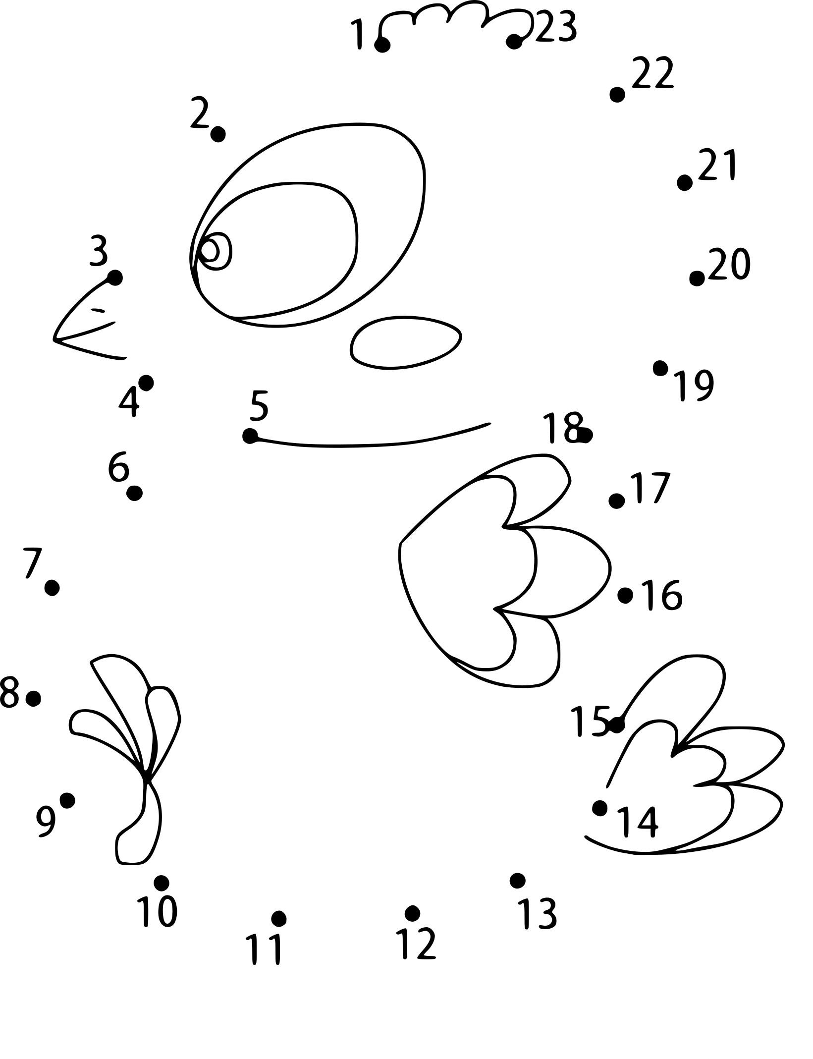 Coloriage Point À Relier Oiseau A Imprimer pour Dessin A Relier
