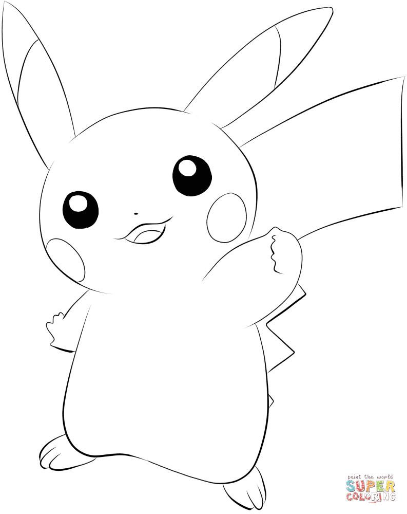 Coloriage - Pokémon Pikachu | Coloriages À Imprimer Gratuits encequiconcerne Dessin De Pikachu Facile
