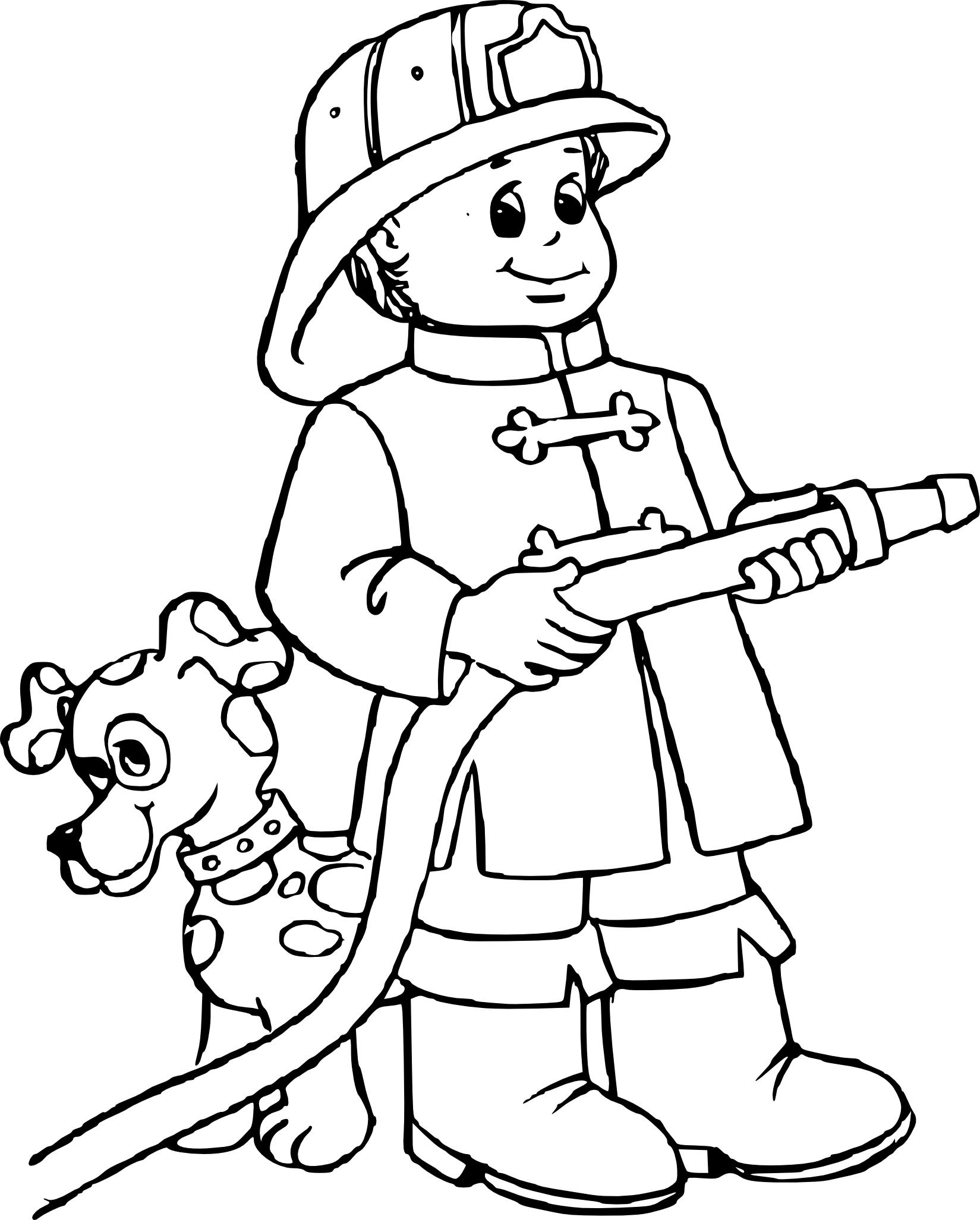Coloriage Pompier Gratuit À Imprimer tout Dessin De Pompier À Imprimer