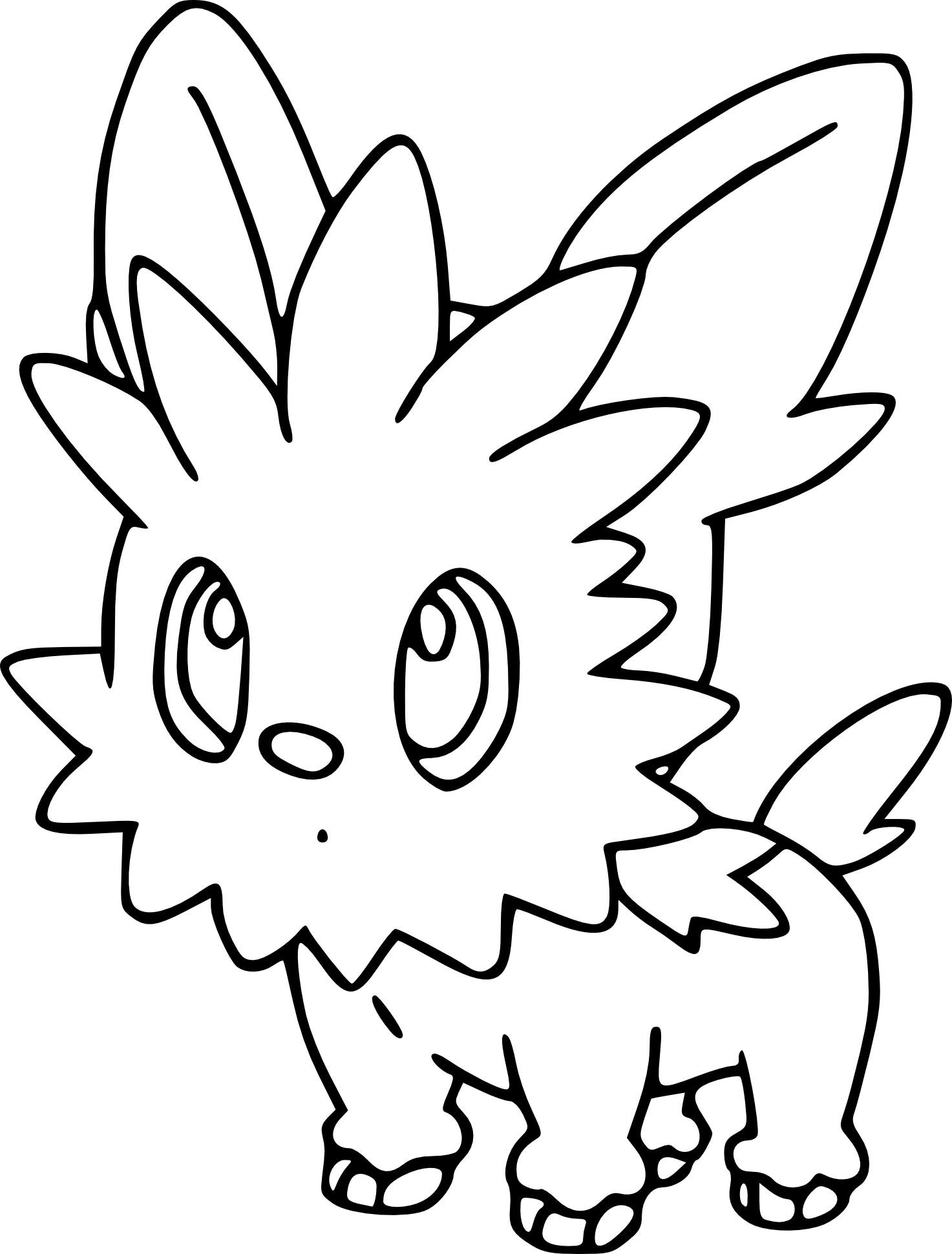 Coloriage Ponchiot Pokemon À Imprimer tout Coloriage De Chiot A Imprimer