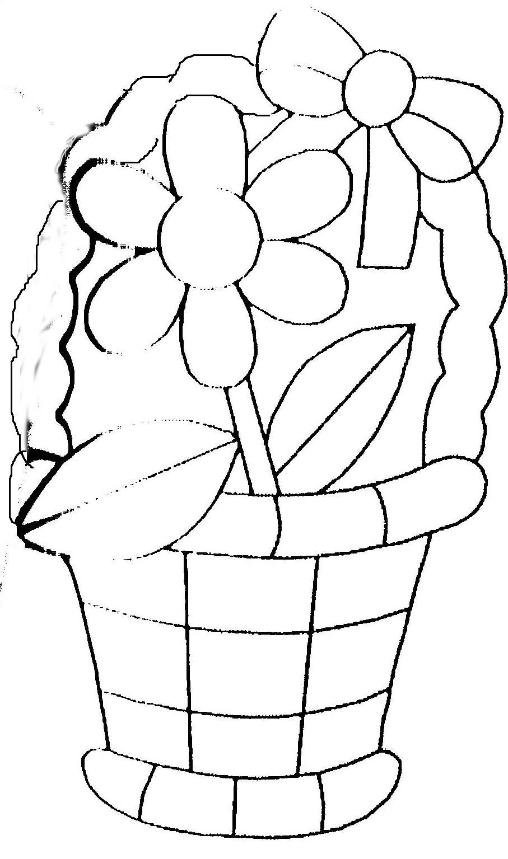Coloriage Pot De Fleurs encequiconcerne Dessin A Colorier De Fleur