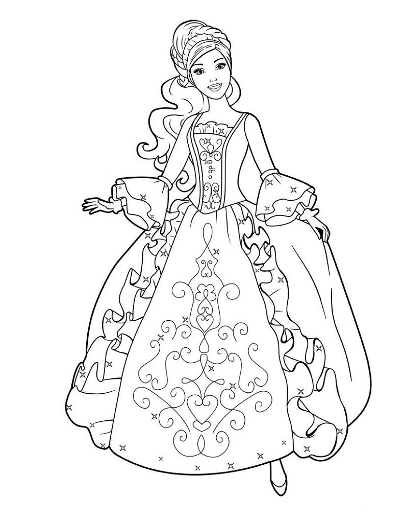 Coloriage Princesse À Imprimer (Disney, Reine Des Neiges, ) intérieur Coloriage A4 Imprimer Gratuit