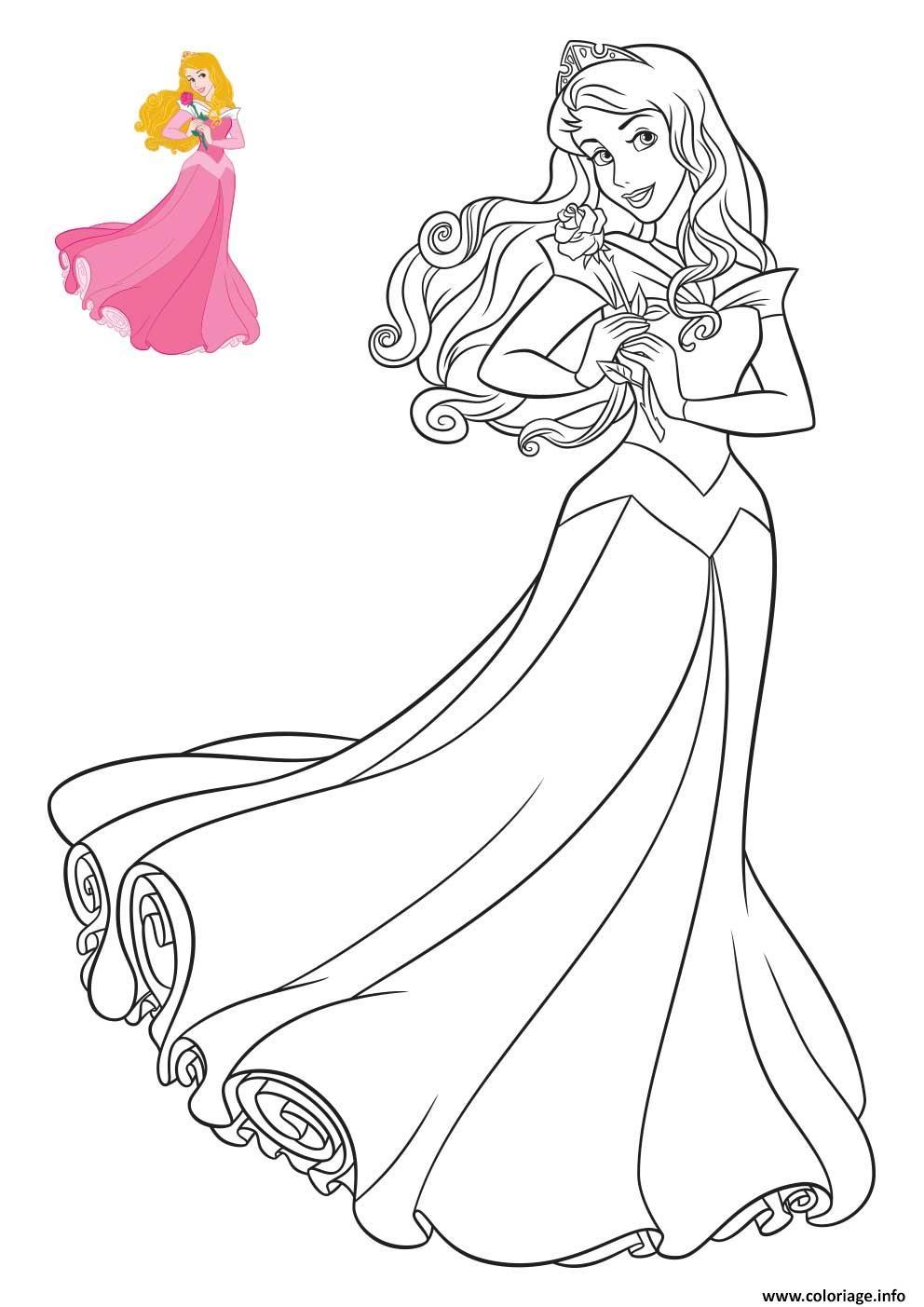 Coloriage Princesse Disney Aurore Dessin concernant Coloriage Princesses Disney À Imprimer