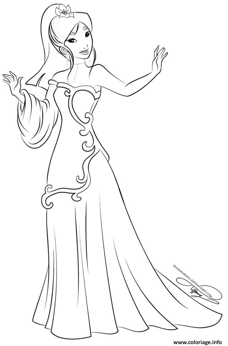 Coloriage Princesse Disney Mulan Dessin concernant Coloriage Princesses Disney À Imprimer