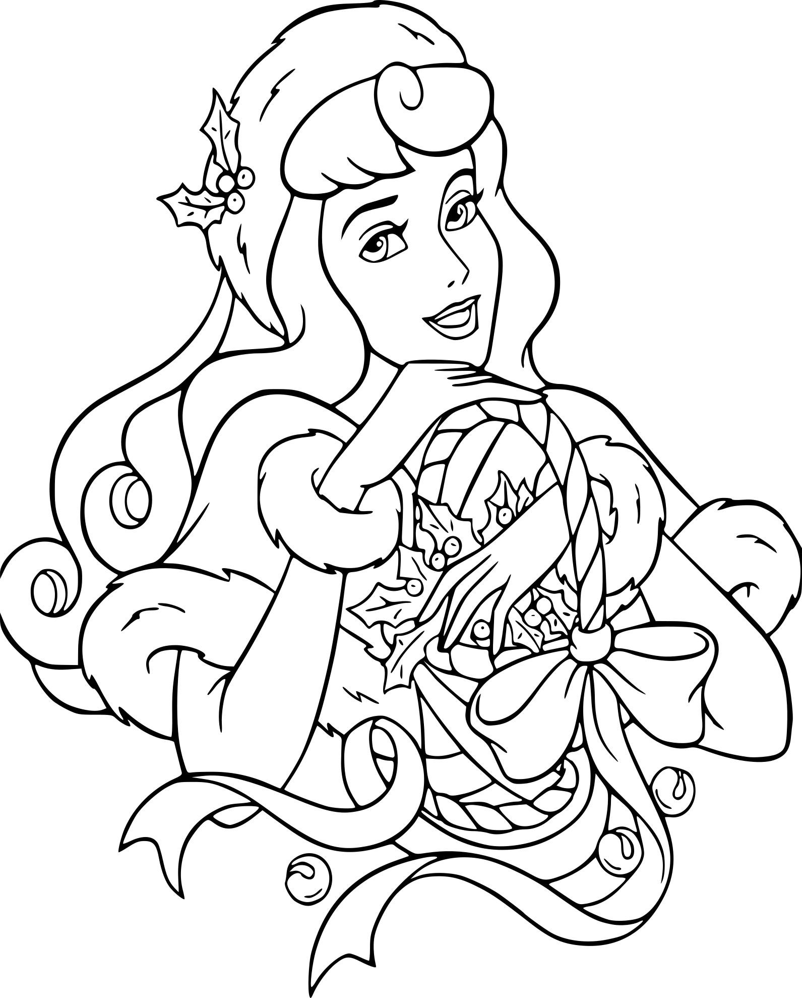 Coloriage Princesse Disney Noel À Imprimer Sur Coloriages tout Coloriage Princesses Disney À Imprimer