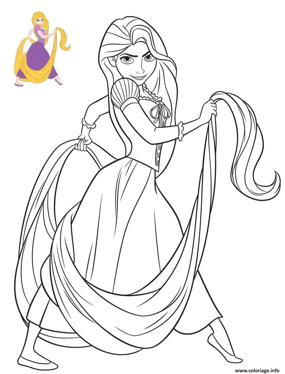 Coloriage Princesse Disney Raiponce Dessin à Coloriage Princesses Disney À Imprimer