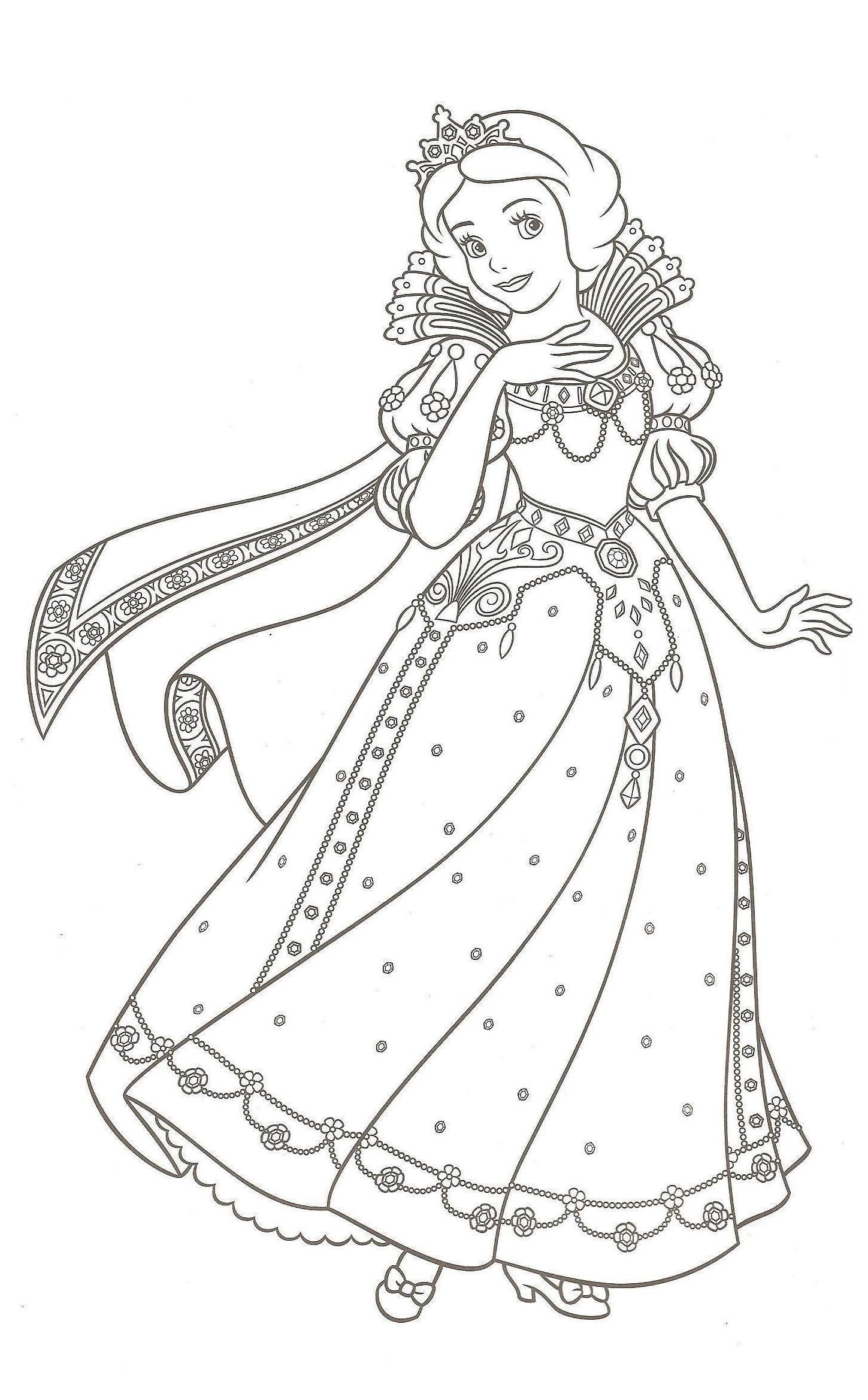 Coloriage Princesse En Ligne Gratuit | Coloriage Princesse avec Dessin À Colorier En Ligne Gratuit