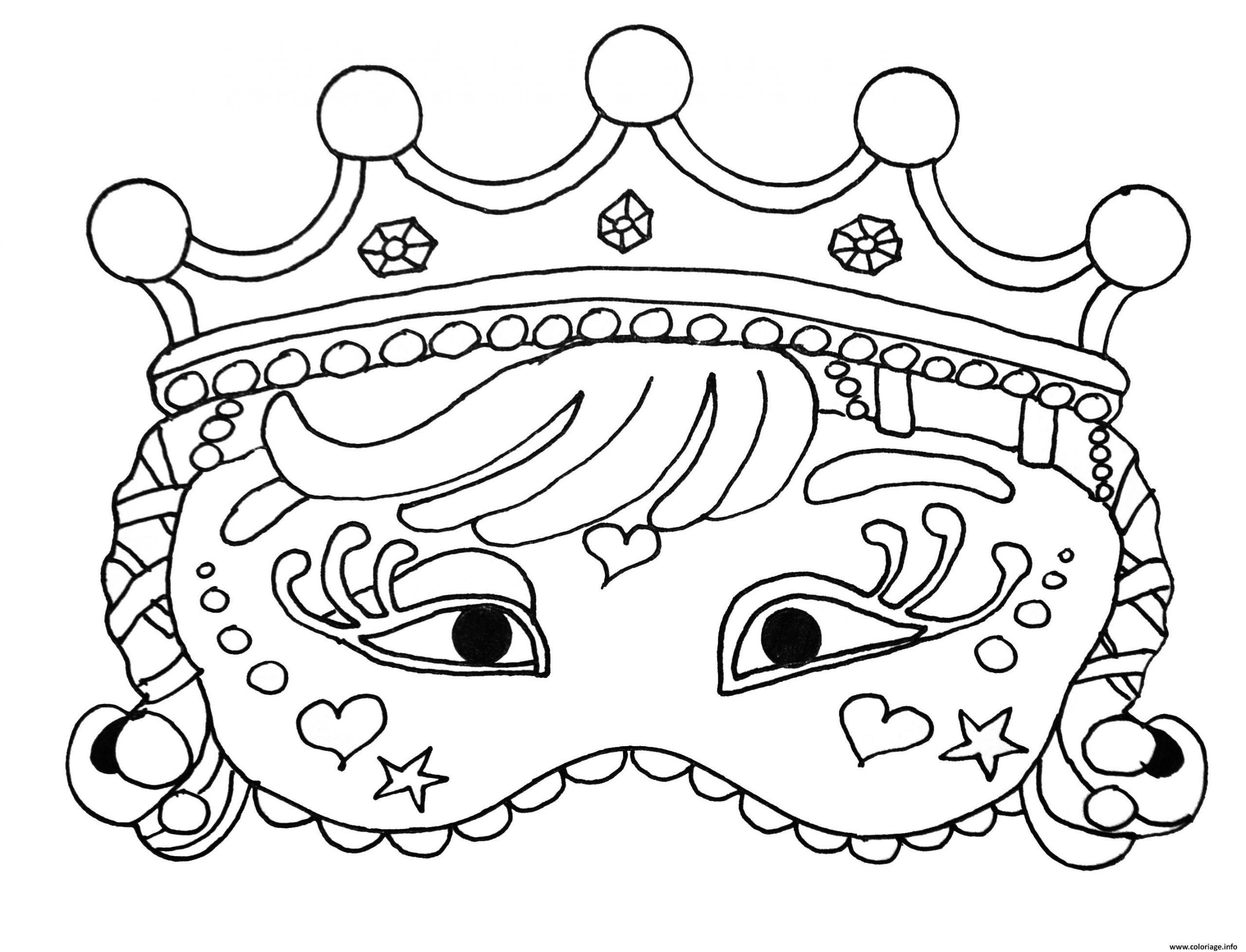 Coloriage Princesse Masque Carnaval Dessin encequiconcerne Coloriage De Carnaval A Imprimer Gratuit