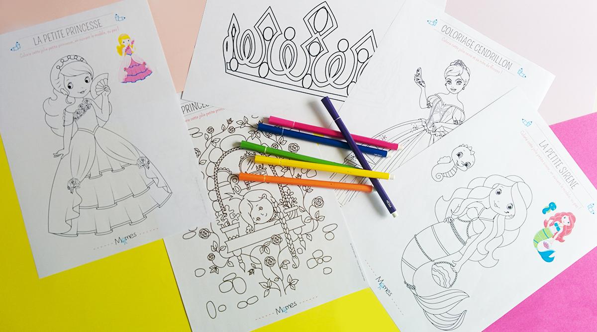 Coloriage Princesse - Momes tout Coloriage Magique Dur