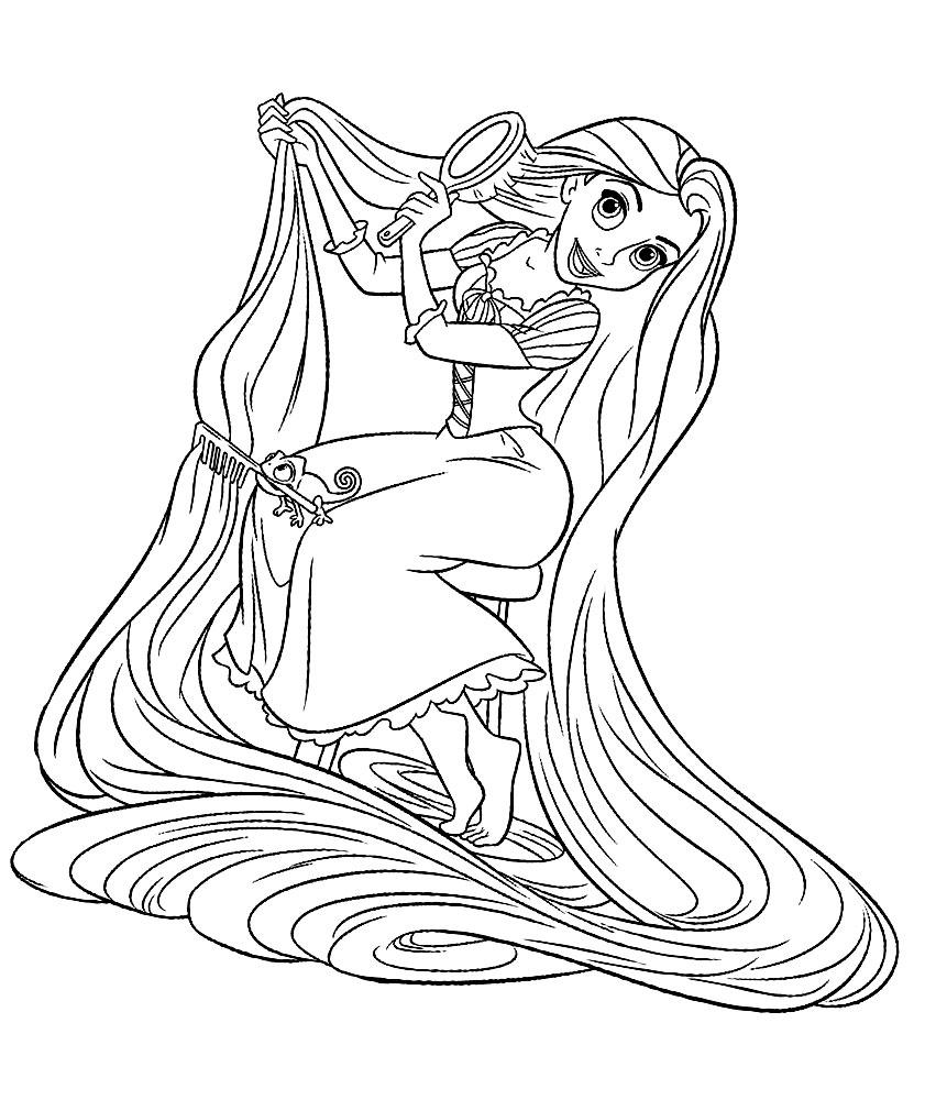 Coloriage Princesse Raiponce Disney À Imprimer Et Colorier pour Coloriage Princesses Disney À Imprimer
