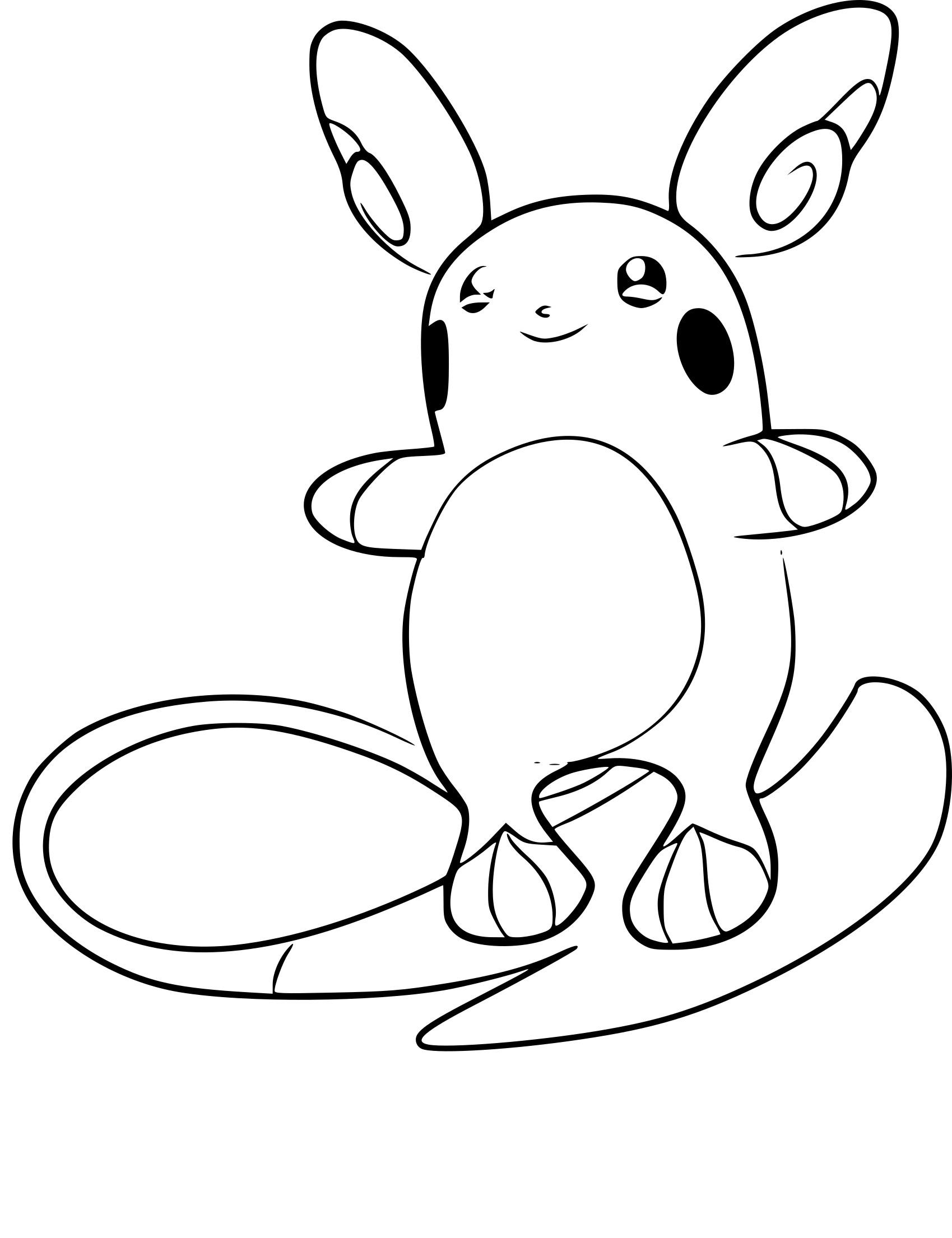Coloriage Raichu D'alola Pokemon À Imprimer dedans Coloriage D Épée