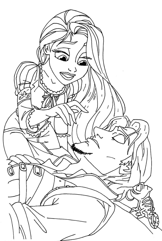 Coloriage Raiponce Pascal - Les Beaux Dessins De Disney À tout Coloriage Princesses Disney À Imprimer