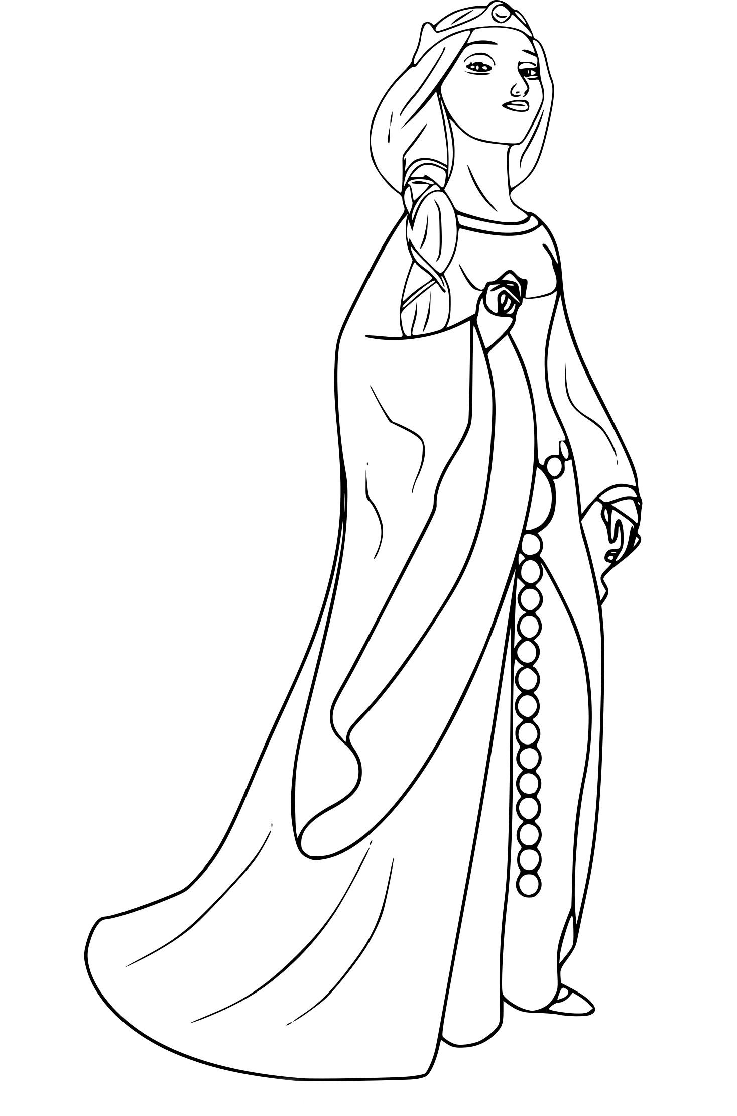 Coloriage Reine Elinor Dans Rebelle À Imprimer intérieur Dessin De Rebelle