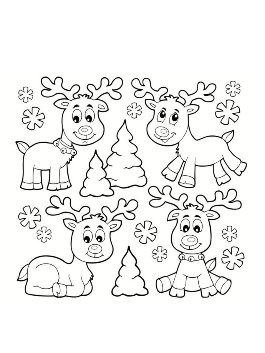 Coloriage Renne De Noël : 24 Dessins À Imprimer Gratuitement avec Image A Colorier Gratuit A Imprimer