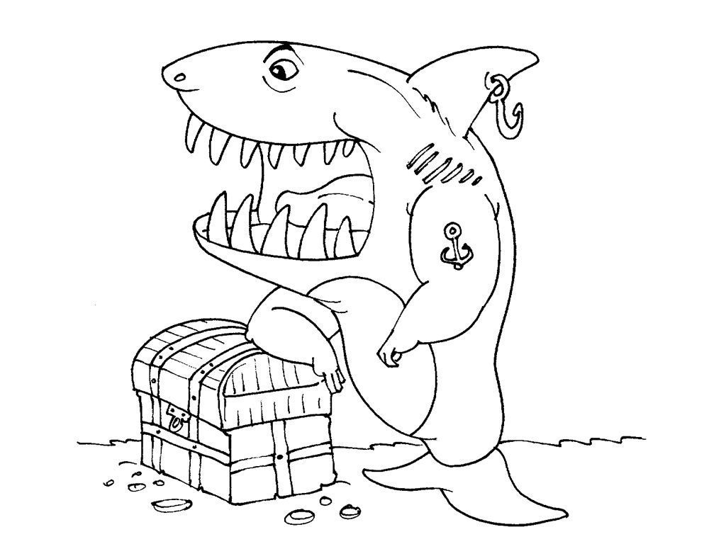 Coloriage Requin 29 - Coloriage Requins - Coloriages Animaux destiné Dessin De Requin À Imprimer