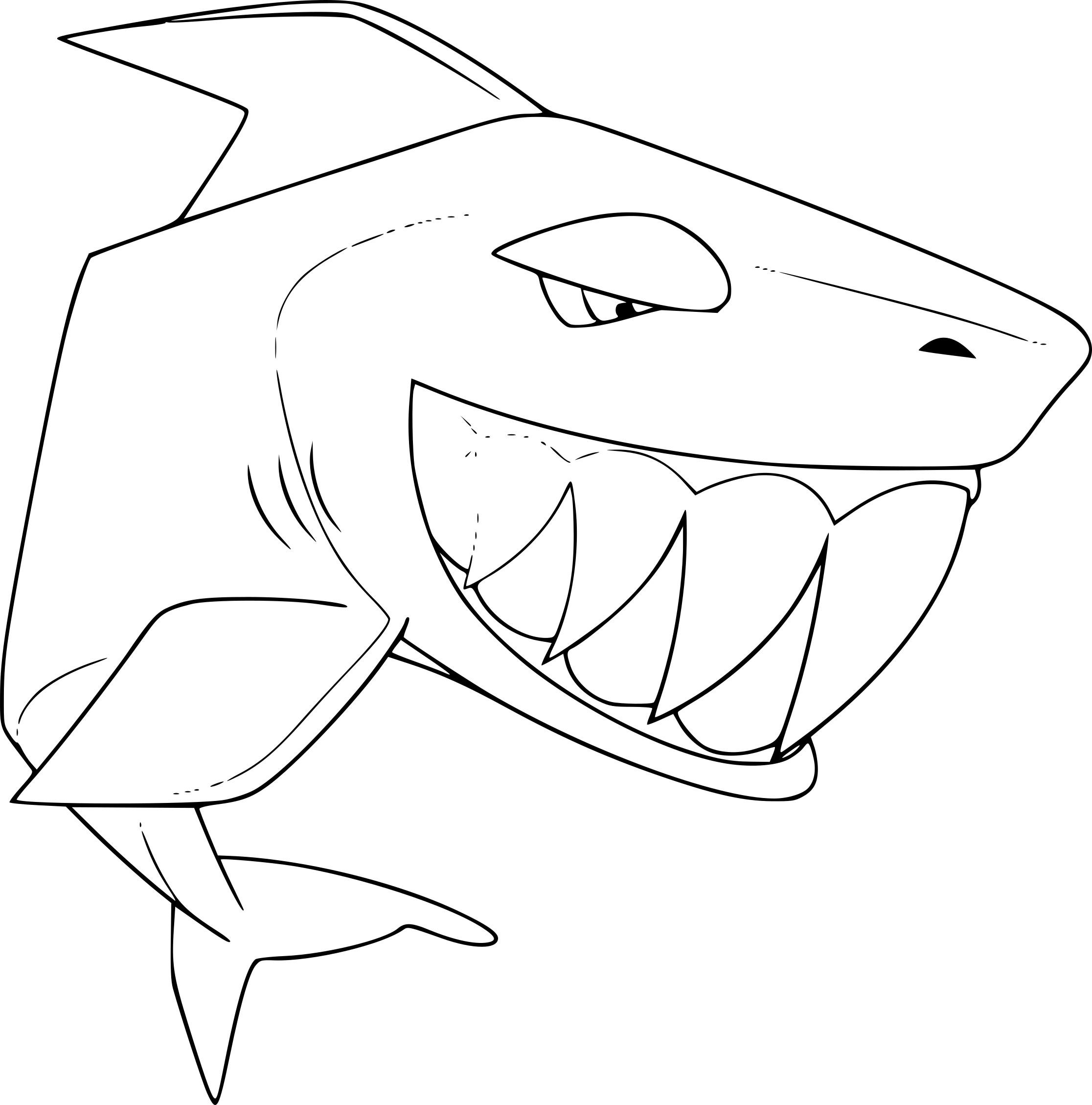 Coloriage Requin Animal Jam À Imprimer à Coloriage Requin À Imprimer