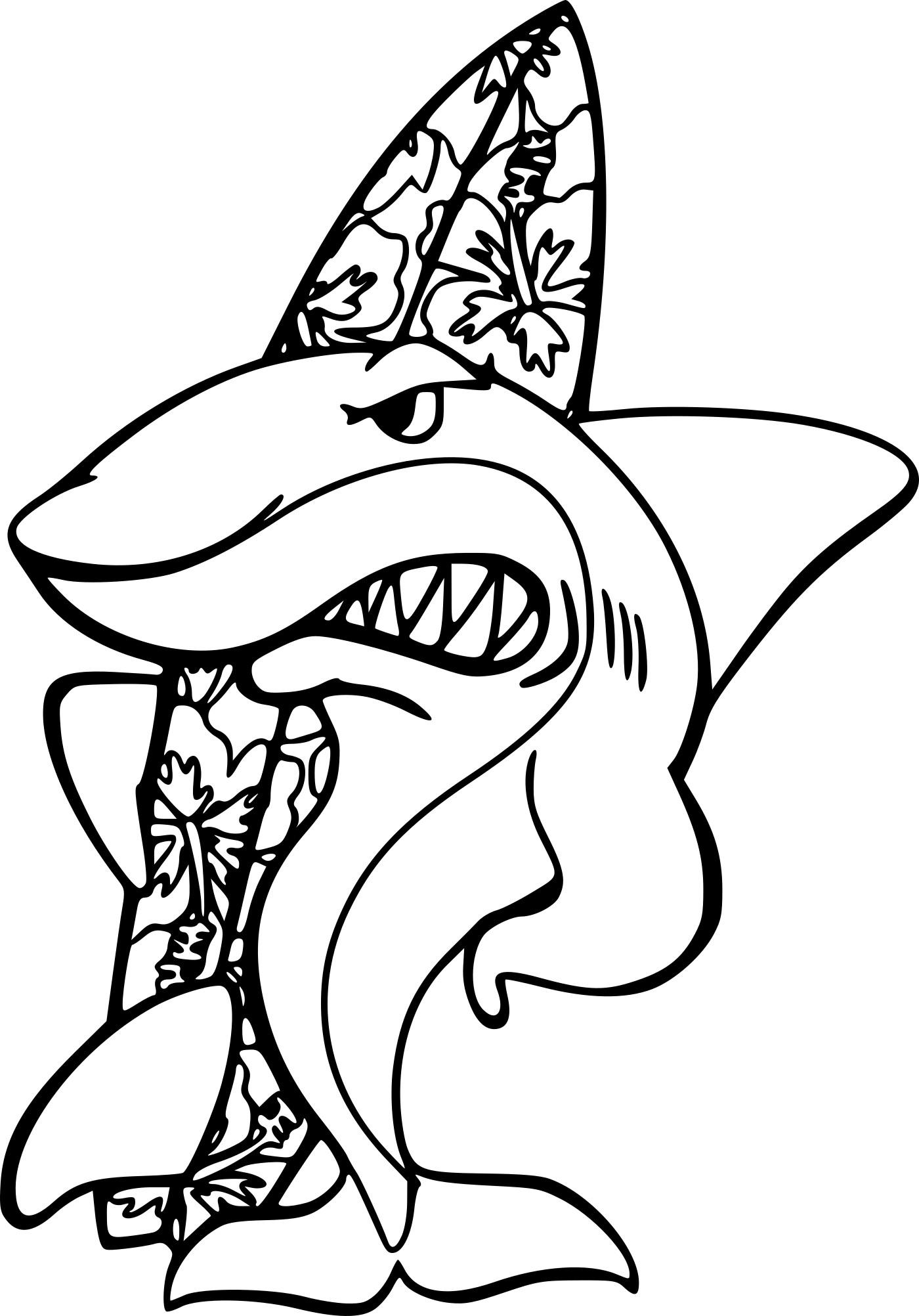 Coloriage Requin Fait Du Surf À Imprimer pour Dessin De Requin À Imprimer