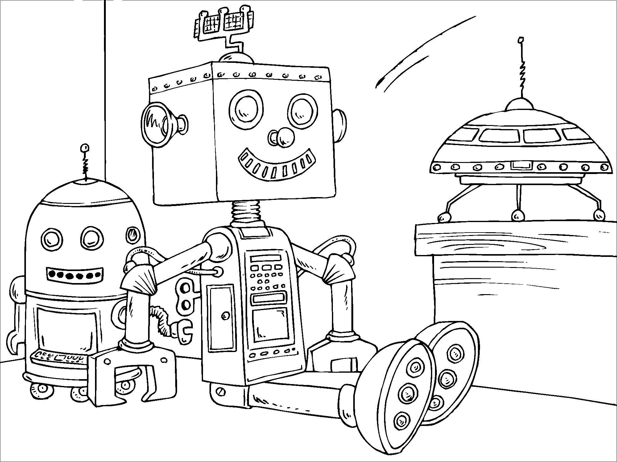 Coloriage Robot Jouet - Coloriages Gratuits À Imprimer dedans Coloriage Robot À Imprimer