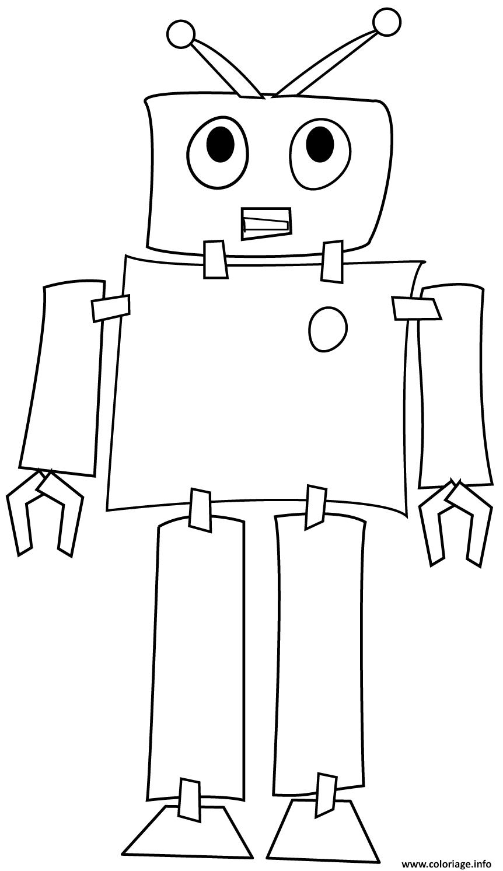 Coloriage Robot Machine Programme Par Un Ordinateur Dessin pour Coloriage Robot À Imprimer