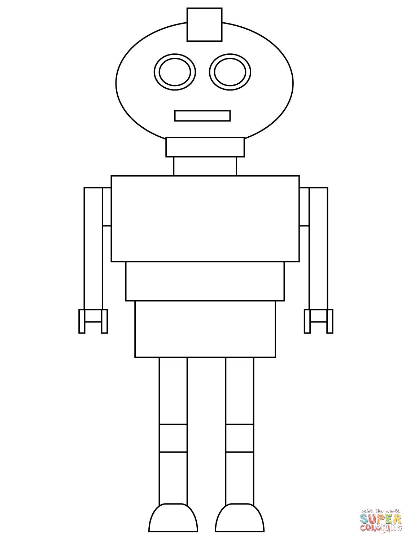 Coloriage - Robot Très Simple | Coloriages À Imprimer Gratuits serapportantà Coloriage Robot À Imprimer
