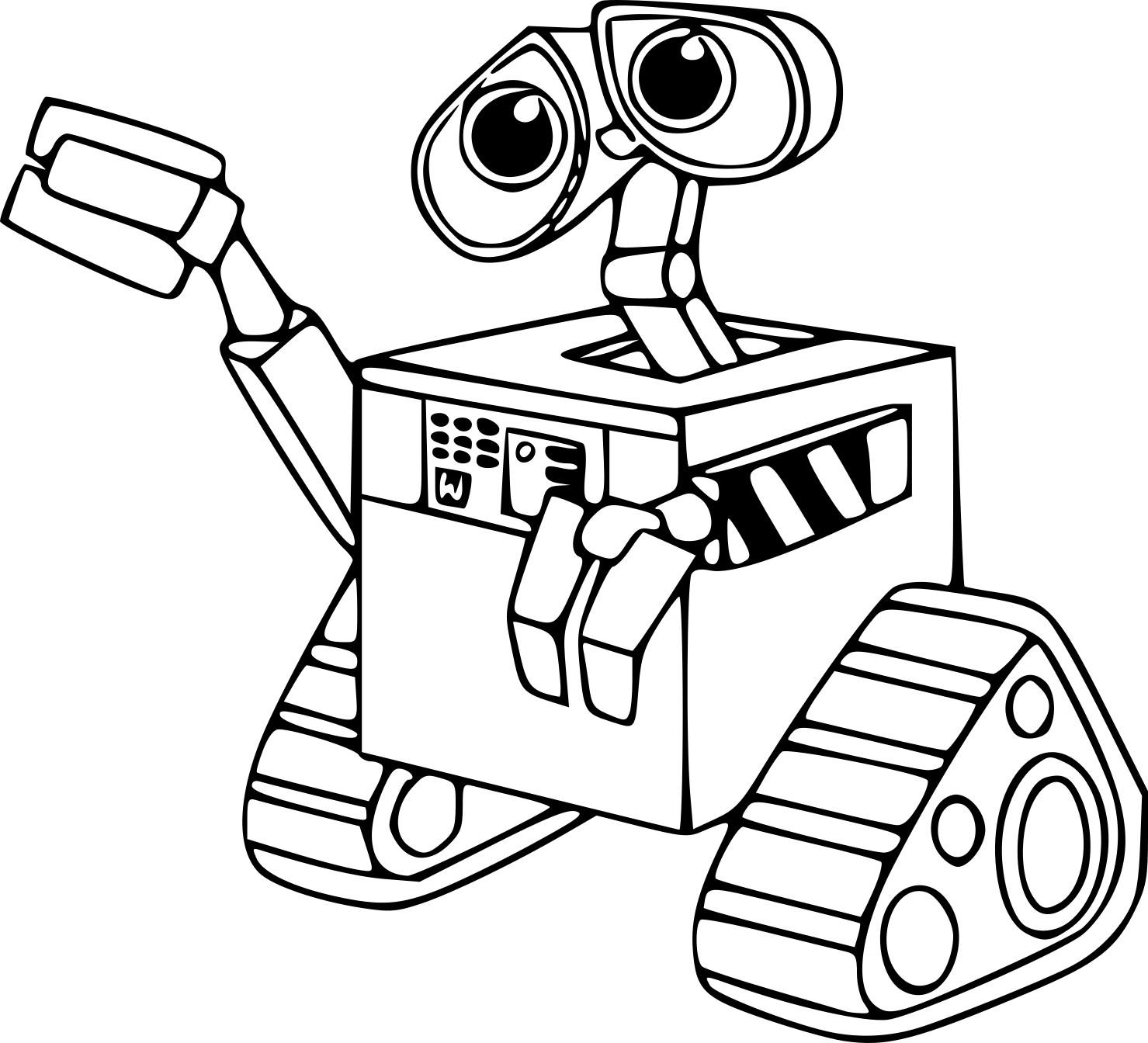 Coloriage Robot Wall-E À Imprimer Sur Coloriages pour Coloriage Robot À Imprimer