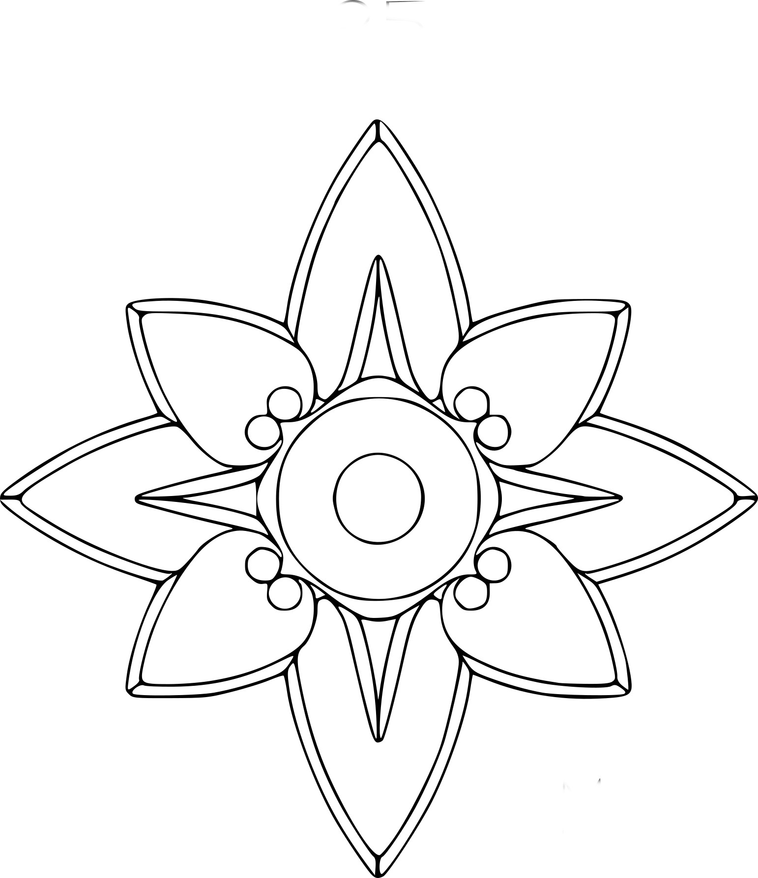 Coloriage Rosace Etoile À Imprimer Sur Coloriages intérieur Dessiner Une Rosace