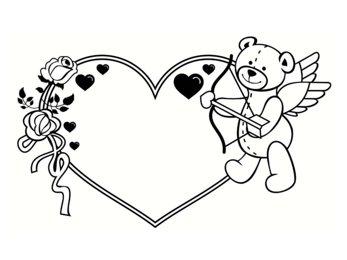 Coloriage Saint Valentin : 40 Dessins À Imprimer Gratuitement dedans Dessin Pour La Saint Valentin