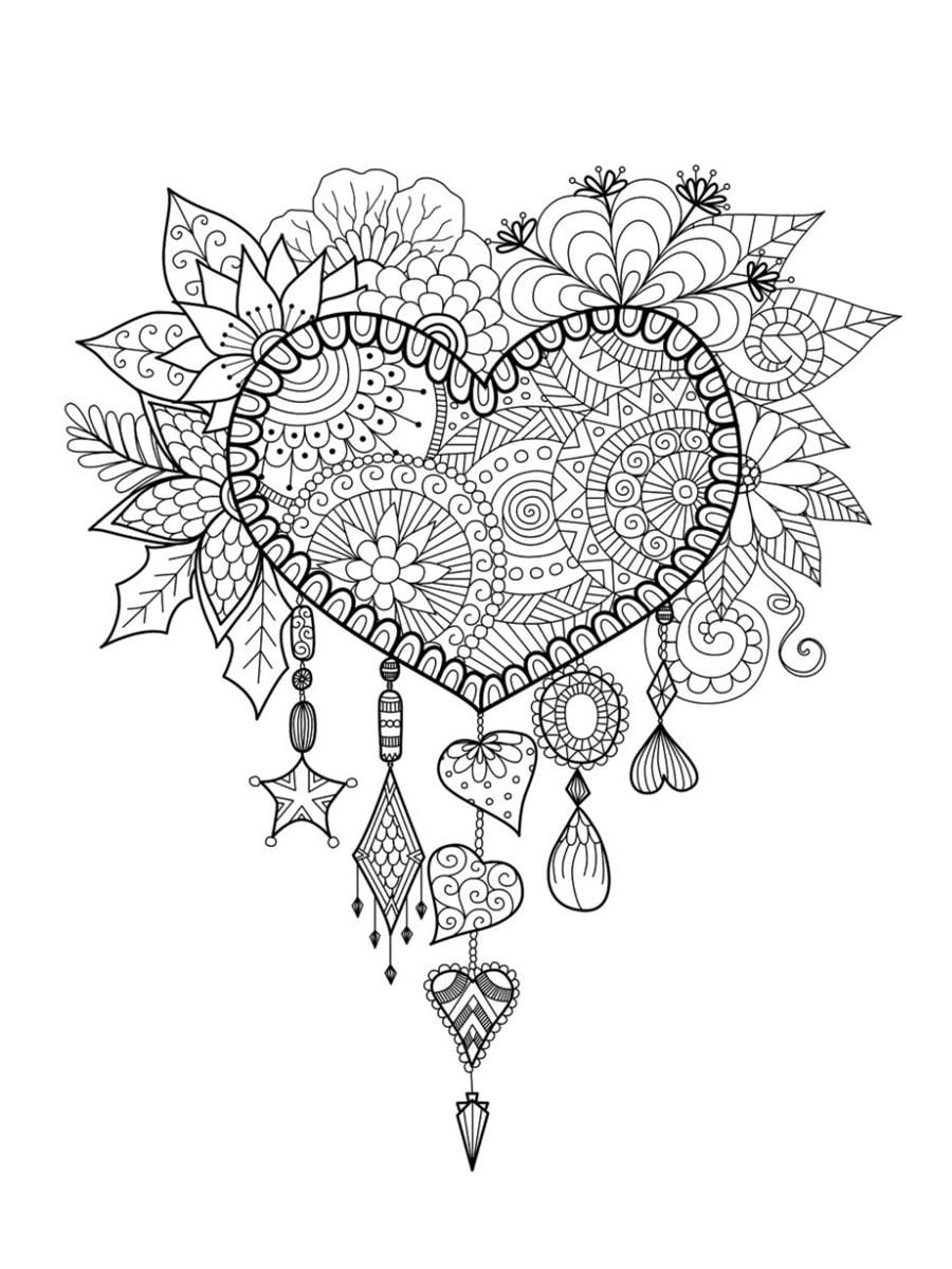 Coloriage Saint Valentin : 40 Dessins À Imprimer Gratuitement pour Dessin Pour La Saint Valentin