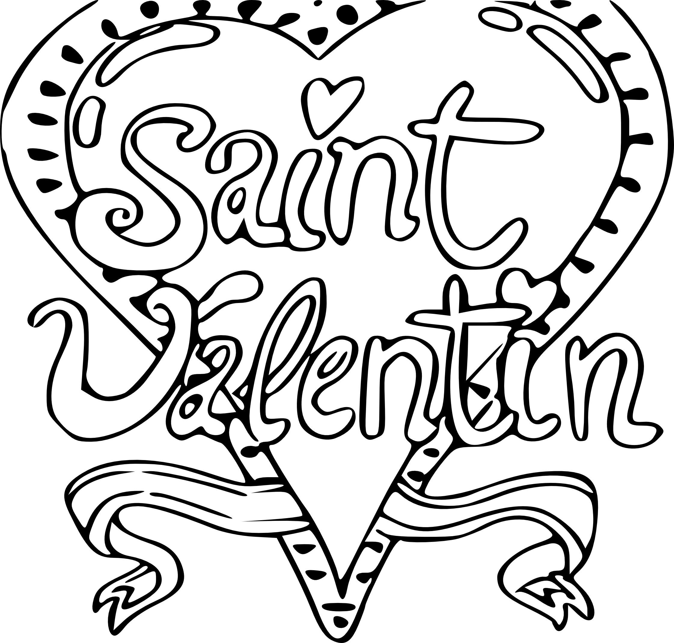 Coloriage Saint Valentin À Imprimer serapportantà Dessin Pour La Saint Valentin