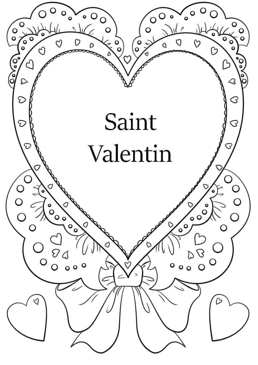 Coloriage Saint Valentin. Imprimer Les Images 14 Février dedans Dessin Pour La Saint Valentin