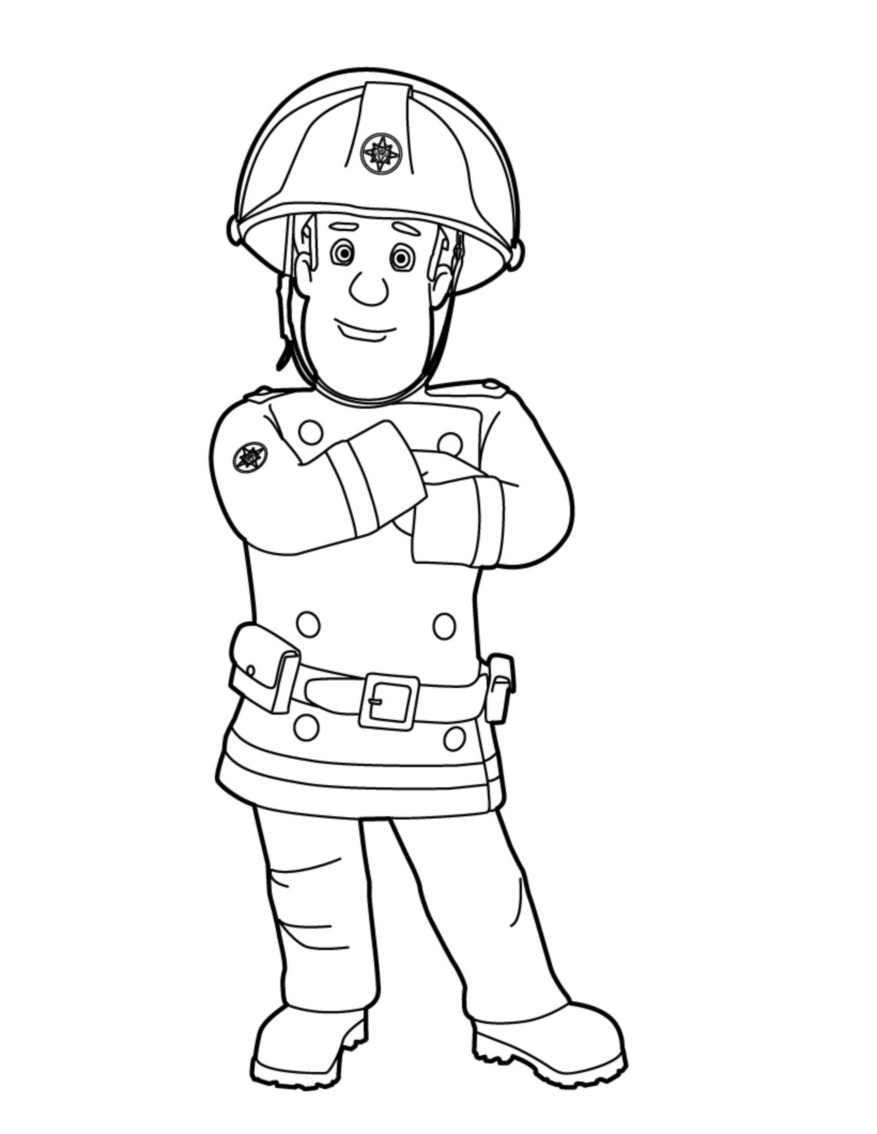 Coloriage Sam Le Pompier - Les Beaux Dessins De Dessin Animé concernant Coloriage Pompier A Imprimer Gratuit
