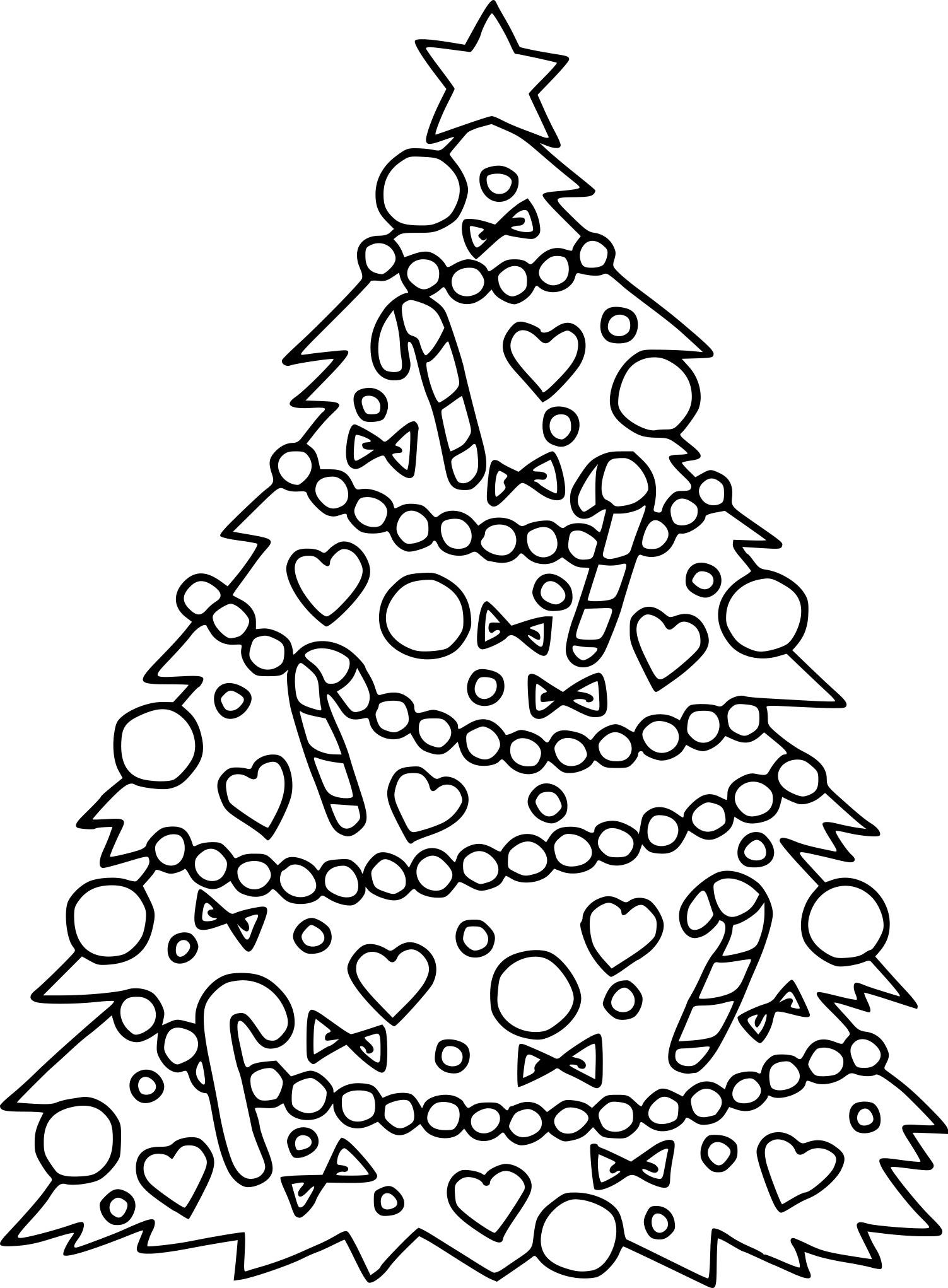 Coloriage Sapin De Noël Décoré À Imprimer Sur Coloriages dedans Coloriage De Sapin De Noel A Imprimer Gratuit