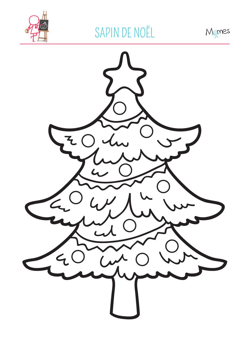 Coloriage Sapin De Noël - Momes encequiconcerne Coloriage De Sapin De Noel A Imprimer Gratuit