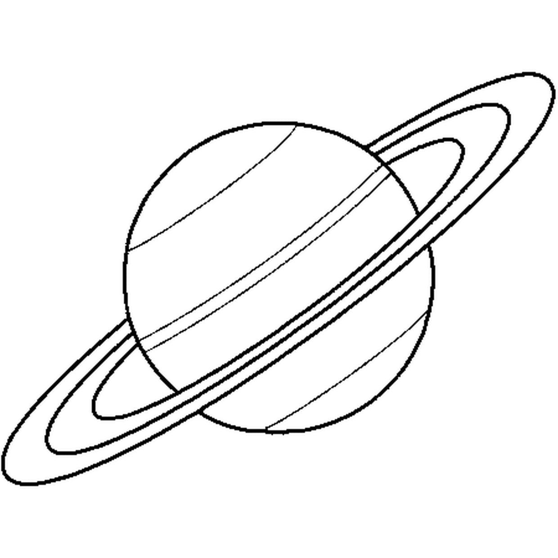 Coloriage Saturne En Ligne Gratuit À Imprimer concernant Saturne Dessin