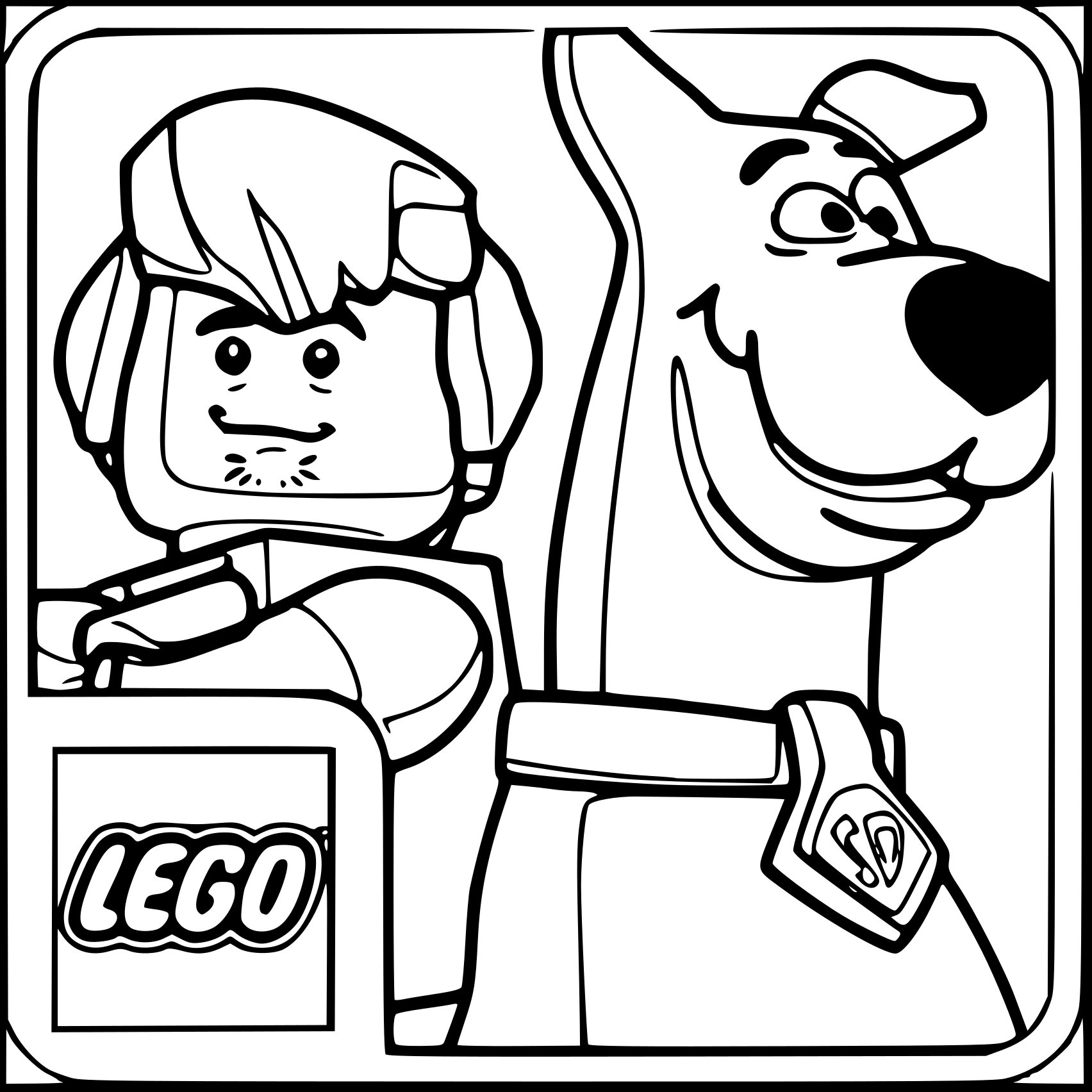 Coloriage Scooby Doo Lego À Imprimer Sur Coloriages tout Scooby Doo À Colorier