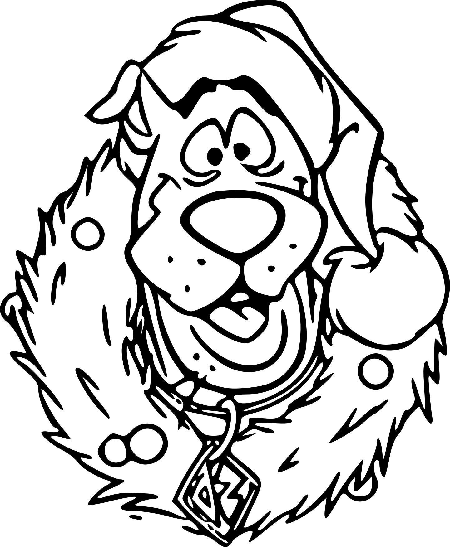 Coloriage Scooby Doo Noël À Imprimer Sur Coloriages tout Scooby Doo À Colorier