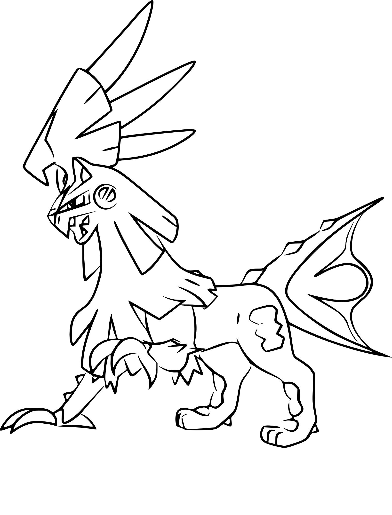 Coloriage Silvallié Pokemon À Imprimer concernant Coloriage D Épée