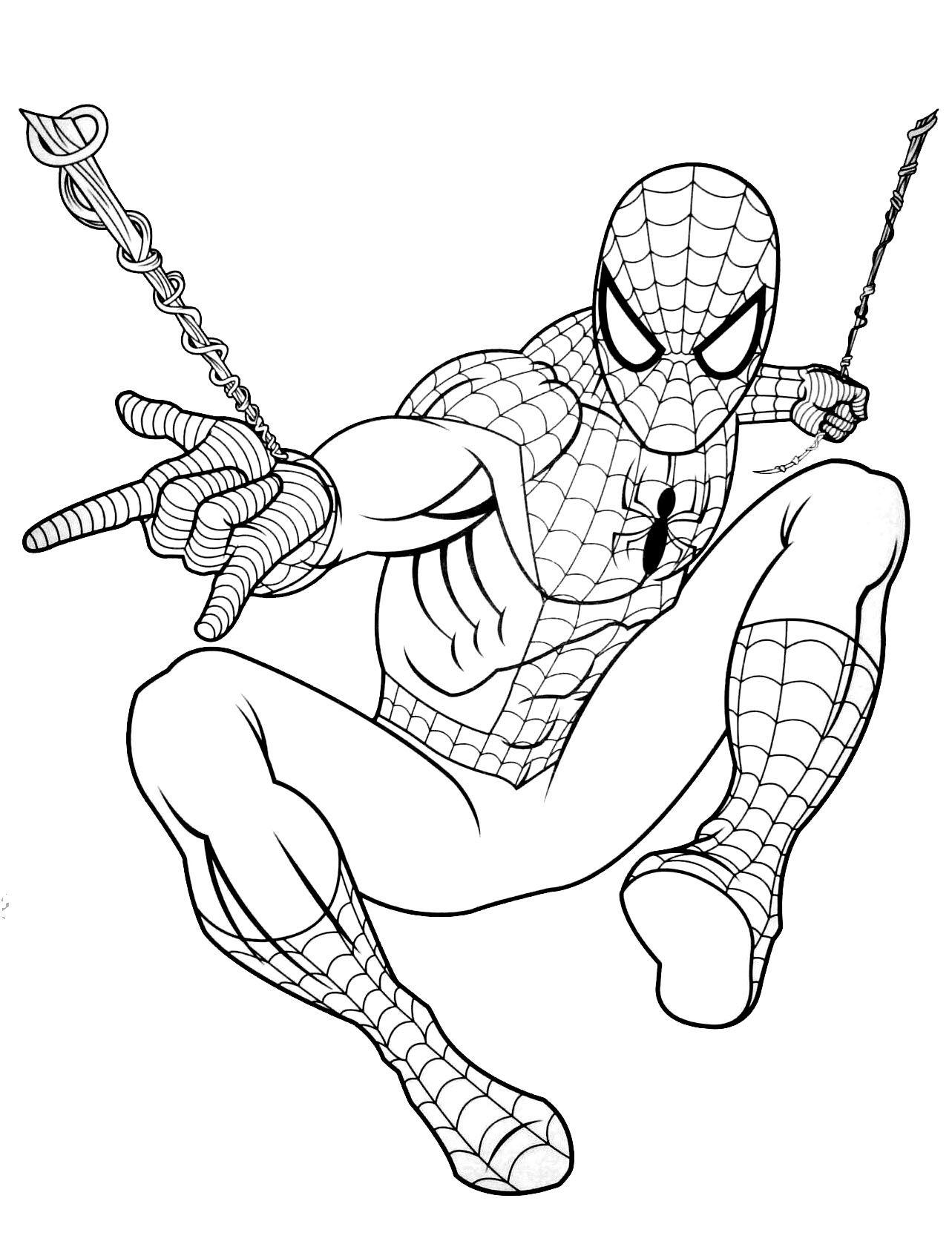 Coloriage Spiderman Gratuit À Colorier - Dessin À Imprimer pour Modele De Dessin Gratuit