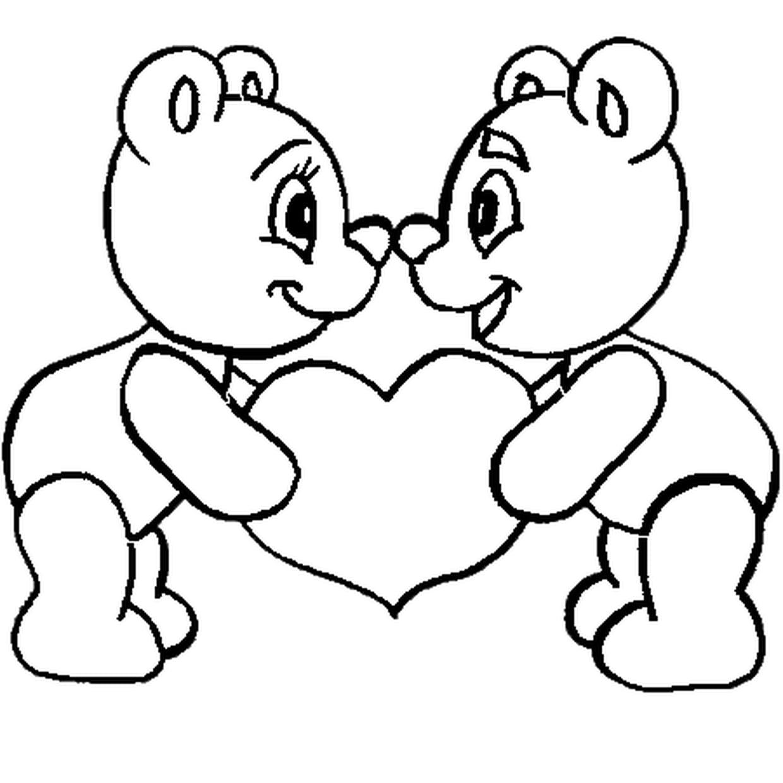 Coloriage St Valentin En Ligne Gratuit À Imprimer concernant Dessin Pour La Saint Valentin